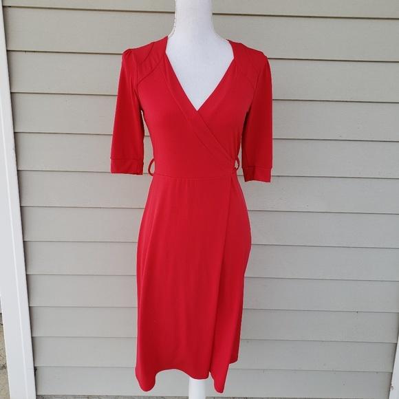 Merona Dresses & Skirts - MERONA V-Neck Midi Wrap Dress, sz XS
